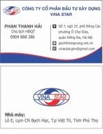 Card VINA STAR