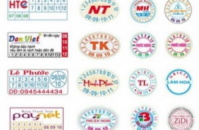 công ty in Tem vỡ tem bảo hành giá rẻ tại HÀ NỘI