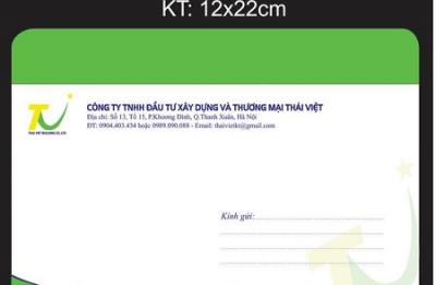 Địa chỉ in phong bì A6( 12 x 22 cm) giá rẻ lấy nhanh ở đâu??