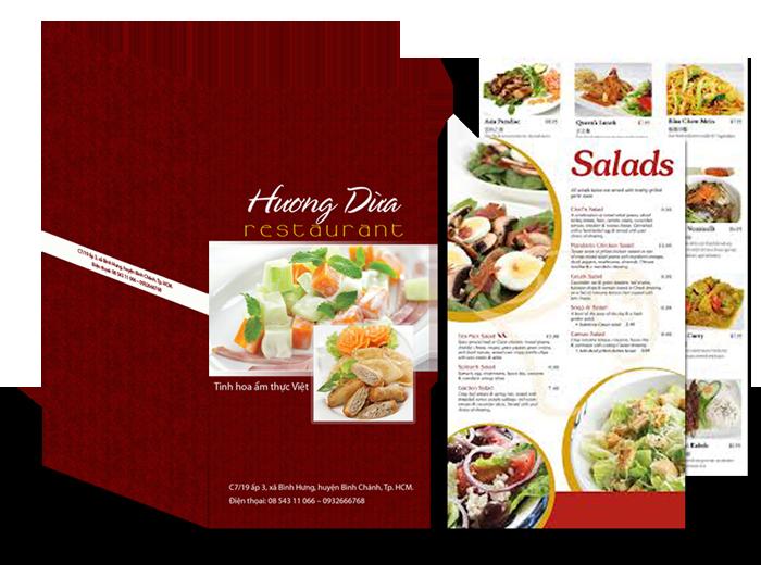 In menu nhà hàng, nhận in menu giấy giá rẻ lấy nhanh Hà Nội