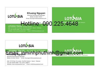 Dịch vụ in card visit lấy nhanh tại Trần Phú, Quang Trung
